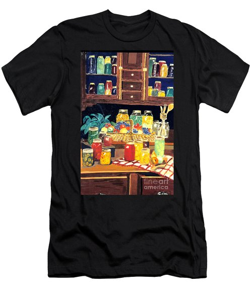 Men's T-Shirt (Slim Fit) featuring the painting Granny's Cupboard by Julie Brugh Riffey