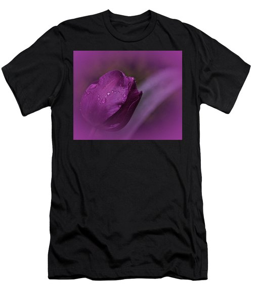 Grape Tulip Men's T-Shirt (Athletic Fit)
