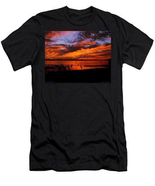 Great Heron Sunset Men's T-Shirt (Athletic Fit)