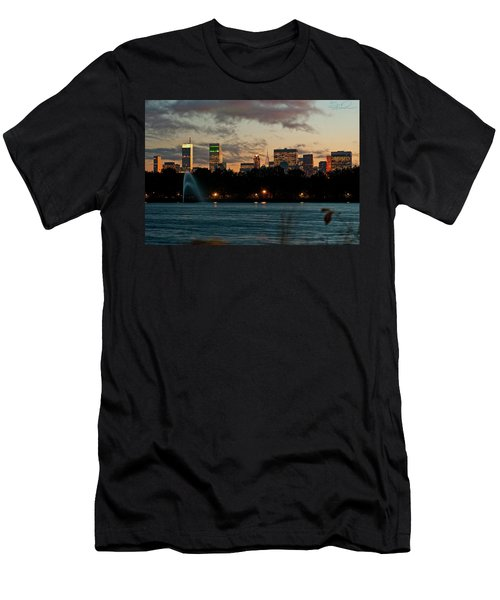 Great Pond Fountain Men's T-Shirt (Athletic Fit)