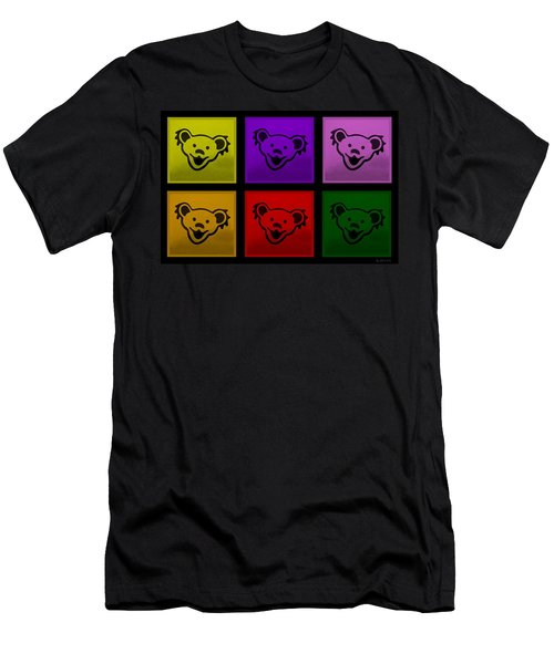Greatful Dead Dancing Bears In Multi Colors Men's T-Shirt (Athletic Fit)