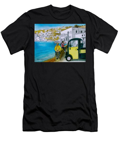 Greek Island Of Mykonis Men's T-Shirt (Athletic Fit)