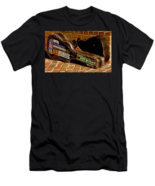 Men's T-Shirt (Slim Fit) featuring the photograph Guitar Case Messages by Lainie Wrightson