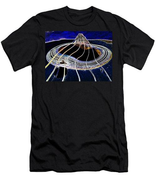 Guitar Warp Glowing Edges Men's T-Shirt (Slim Fit) by Anne Mott
