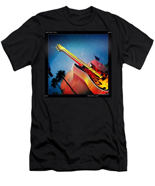 Men's T-Shirt (Slim Fit) featuring the photograph Hard Rock Guitar by Nina Prommer