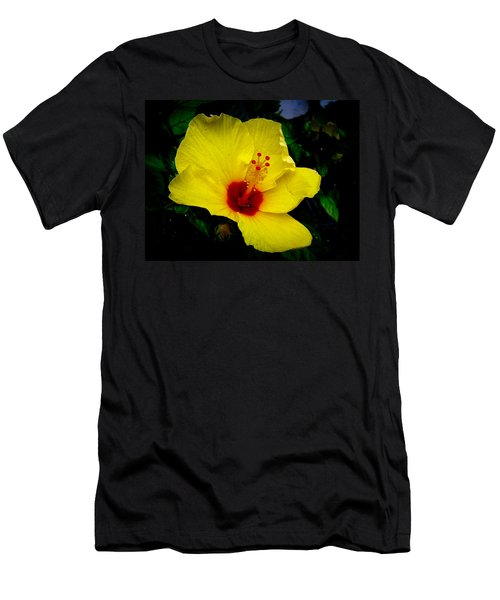Men's T-Shirt (Slim Fit) featuring the photograph Hawaiian Yellow Hibiscus by Athena Mckinzie