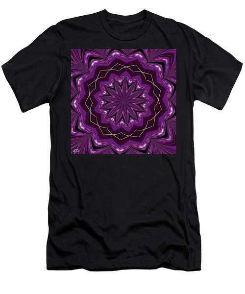 Men's T-Shirt (Slim Fit) featuring the digital art Heather And Lace by Alec Drake