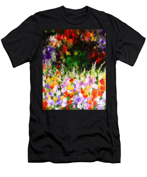 Heavenly Garden Men's T-Shirt (Slim Fit) by Kume Bryant
