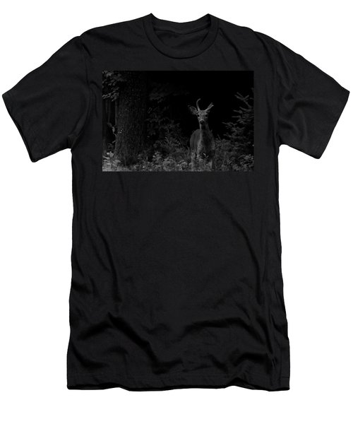 Men's T-Shirt (Slim Fit) featuring the photograph Hello Deer by Cheryl Baxter