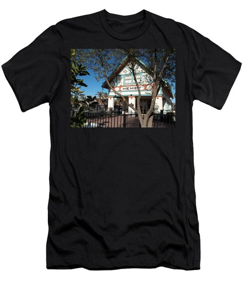 Hemet Museum-old Santa Fe Depot Men's T-Shirt (Athletic Fit)