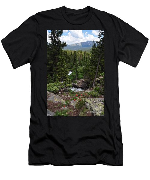 Hiking In Colorado Men's T-Shirt (Athletic Fit)