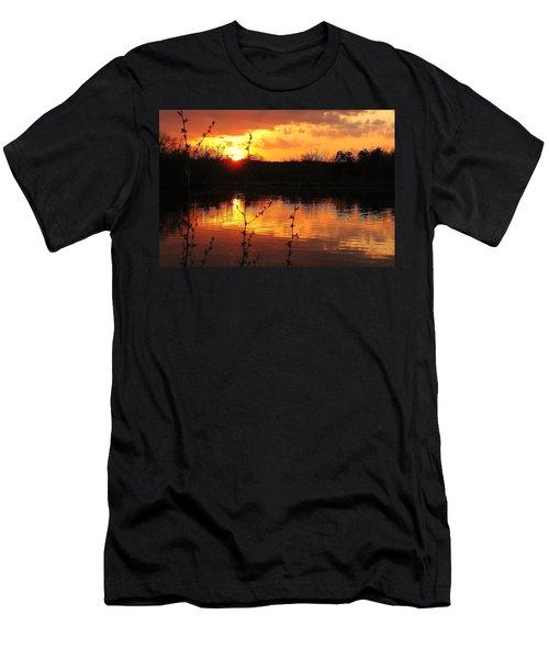 Horn Pond Sunset 8 Men's T-Shirt (Athletic Fit)