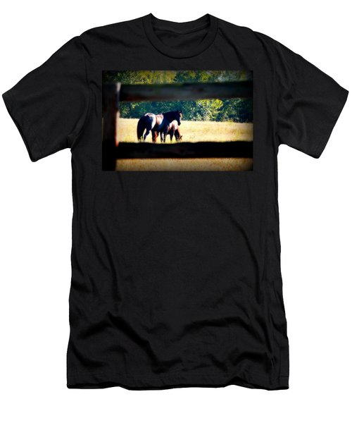 Men's T-Shirt (Slim Fit) featuring the photograph Horse Photography by Peggy Franz