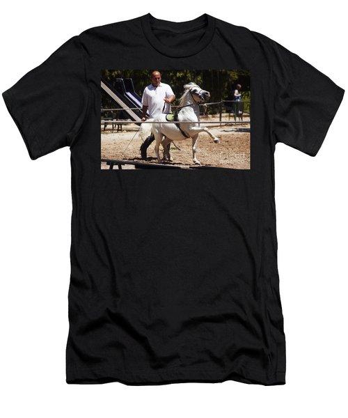 Horse Training Men's T-Shirt (Athletic Fit)
