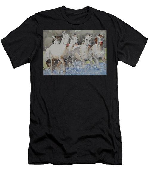Horses Thru Water Men's T-Shirt (Athletic Fit)