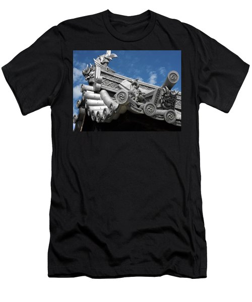 Horyu-ji Temple Roof Gargoyles - Nara Japan Men's T-Shirt (Athletic Fit)