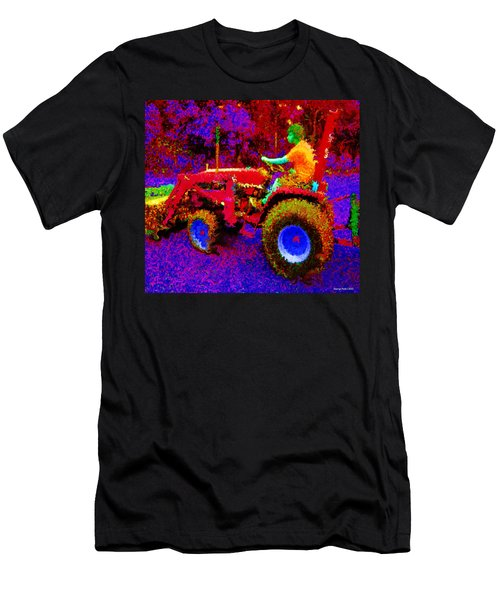 Men's T-Shirt (Slim Fit) featuring the photograph Hot Afternoon On A John Deere Tractor by George Pedro