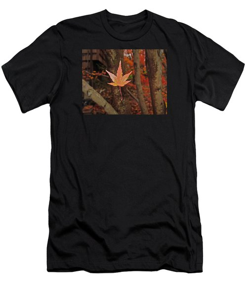 Men's T-Shirt (Athletic Fit) featuring the photograph I Know- I Know- I See It--aka Gold Leaf by Cliff Spohn
