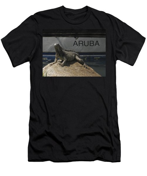 Men's T-Shirt (Slim Fit) featuring the photograph Iguana by David Gleeson