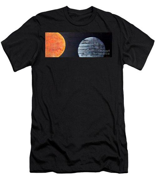 Men's T-Shirt (Slim Fit) featuring the painting Illumination by Barbara Moignard