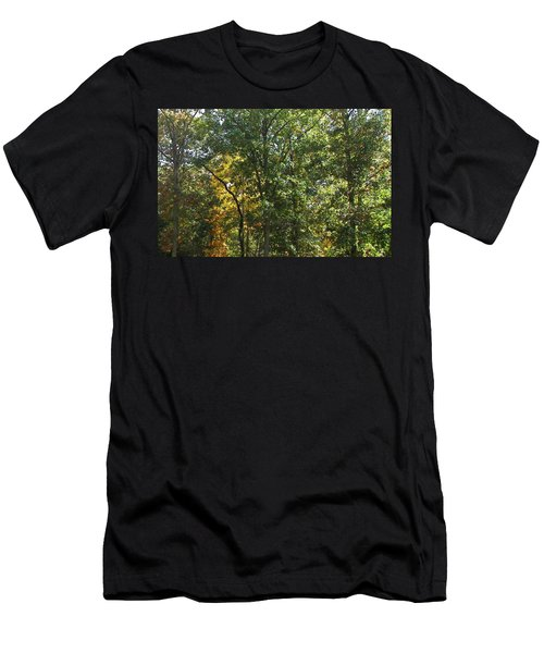 Men's T-Shirt (Slim Fit) featuring the photograph Image Of Fall by Pamela Hyde Wilson