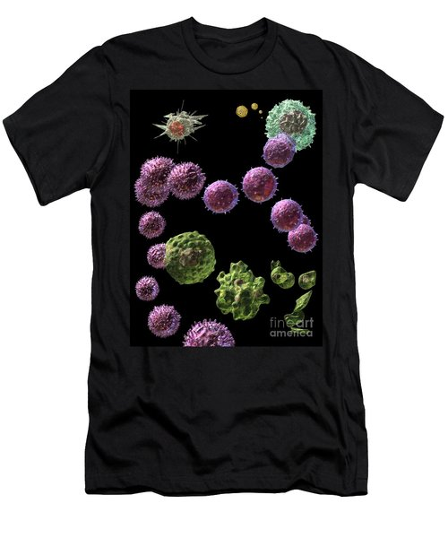 Men's T-Shirt (Slim Fit) featuring the digital art Immune Response Cytotoxic 2 by Russell Kightley
