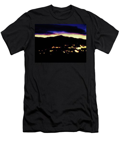 Men's T-Shirt (Slim Fit) featuring the photograph Impressionistic Pikes Peak by Clarice  Lakota