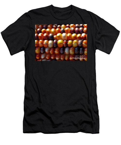 Men's T-Shirt (Slim Fit) featuring the photograph Indian Corn by Barbara McMahon