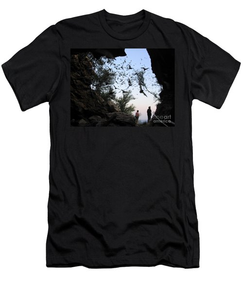 Men's T-Shirt (Slim Fit) featuring the photograph Inside The Bat Cave by Mark Robbins