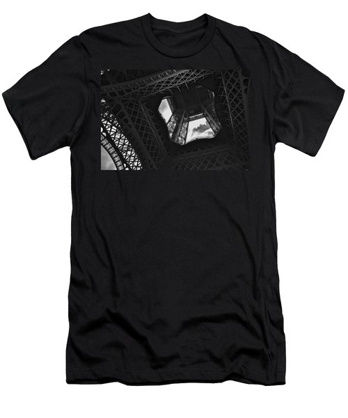 Men's T-Shirt (Slim Fit) featuring the photograph Inside The Eiffel Tower by Eric Tressler