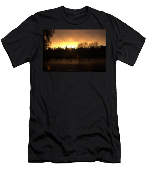 Men's T-Shirt (Slim Fit) featuring the mixed media Insomnia II by Terence Morrissey
