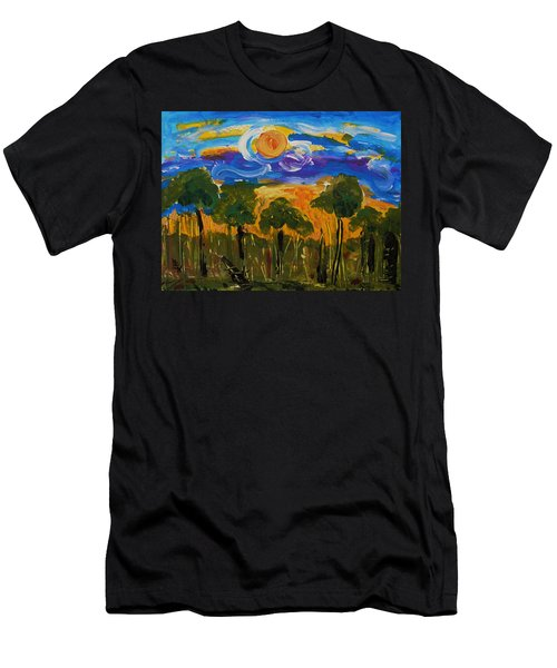 Intense Sky And Landscape Men's T-Shirt (Athletic Fit)