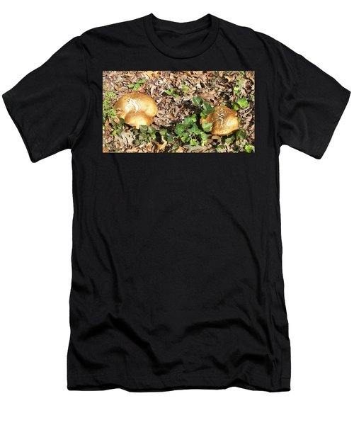 Men's T-Shirt (Slim Fit) featuring the photograph Invasive Shrooms by Pamela Hyde Wilson