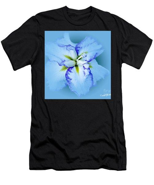 Iris In Blue Men's T-Shirt (Athletic Fit)
