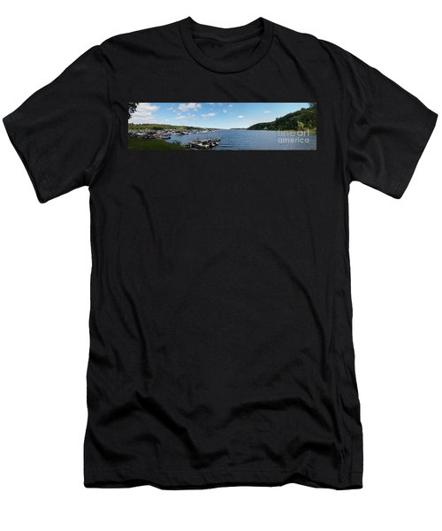 Men's T-Shirt (Slim Fit) featuring the photograph Irondequoit Bay Panorama by William Norton