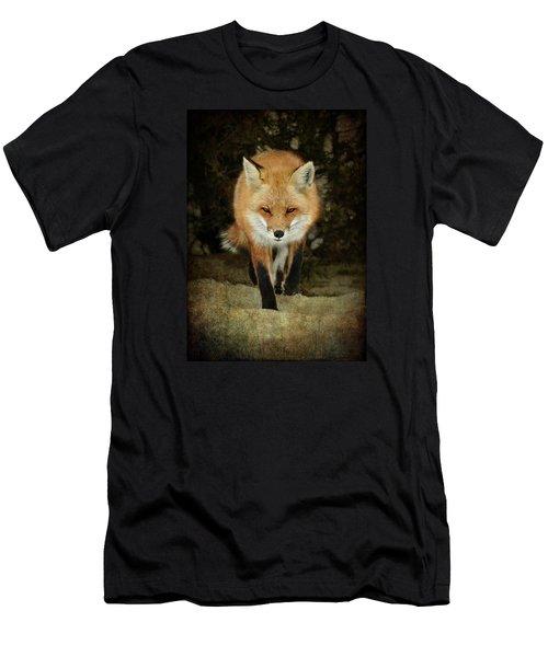Island Beach Fox Men's T-Shirt (Slim Fit) by Sami Martin