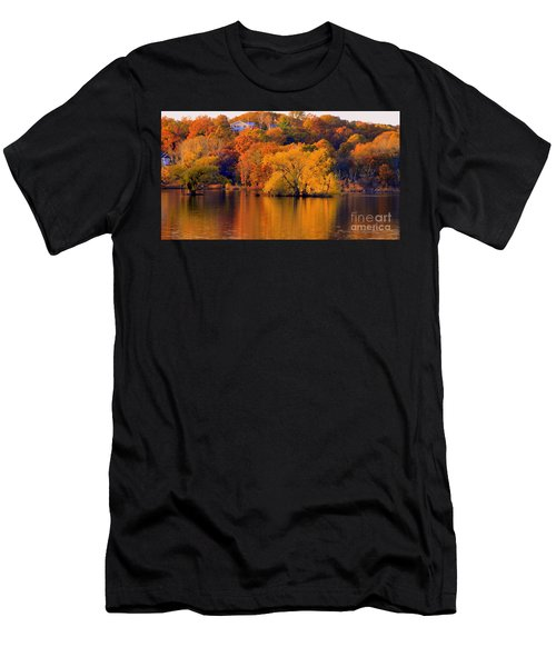 Island  In Fall Men's T-Shirt (Athletic Fit)