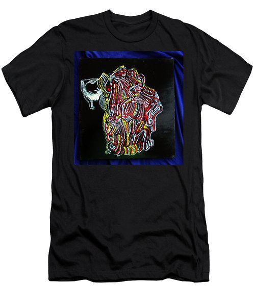 Men's T-Shirt (Slim Fit) featuring the painting Japanese Opera - Noh by Gloria Ssali