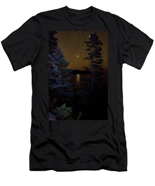 Jupiter Rising Over Otter Point Men's T-Shirt (Athletic Fit)