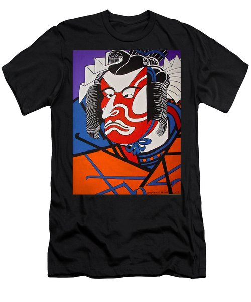 Kabuki Actor 2 Men's T-Shirt (Slim Fit) by Stephanie Moore