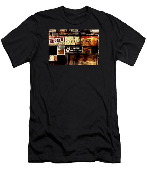 Men's T-Shirt (Slim Fit) featuring the photograph Kentucky Shed Ad Signs by Tom Wurl