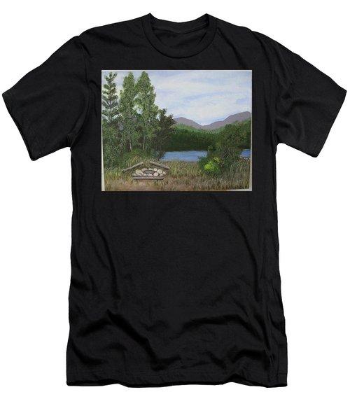 Kootenay Lake Bc Men's T-Shirt (Athletic Fit)
