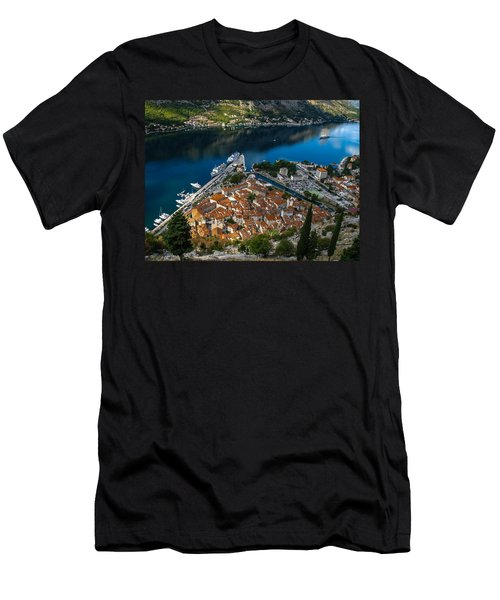 Men's T-Shirt (Slim Fit) featuring the photograph Kotor Montenegro by David Gleeson