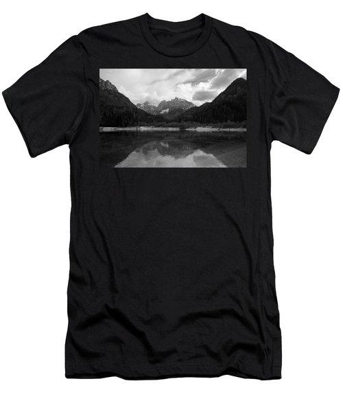 Kranjska Gora In Black And White Men's T-Shirt (Athletic Fit)