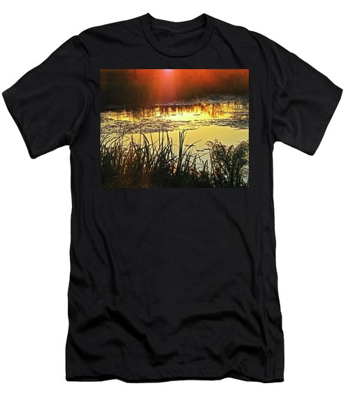 Men's T-Shirt (Slim Fit) featuring the photograph Lacassine Sundown by Lizi Beard-Ward