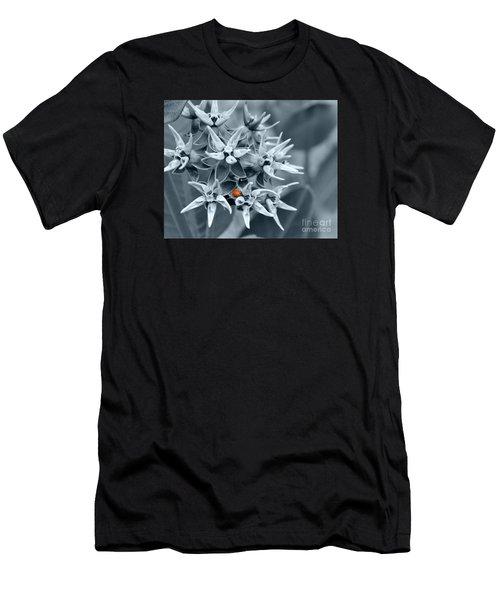 Ladybug Flower Men's T-Shirt (Slim Fit) by Rebecca Margraf