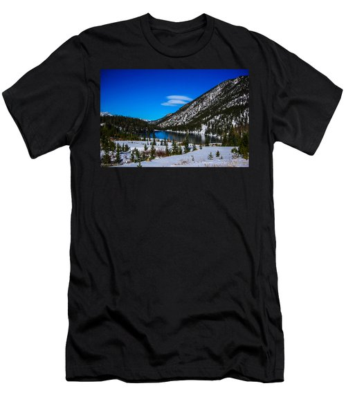 Men's T-Shirt (Slim Fit) featuring the photograph Lake In The Mountains by Shannon Harrington