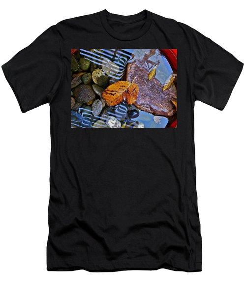 Leaves Rocks Shadows Men's T-Shirt (Slim Fit) by Bill Owen