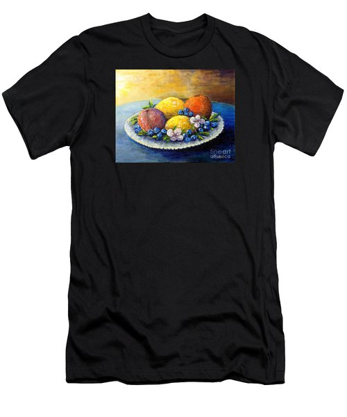 Lemons And Blueberries Men's T-Shirt (Athletic Fit)