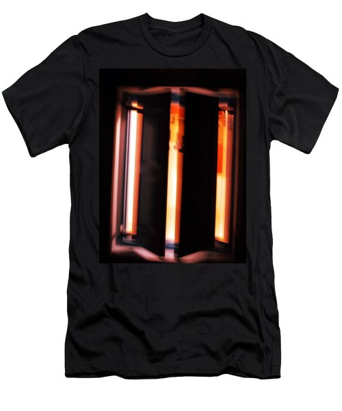 Men's T-Shirt (Slim Fit) featuring the photograph Light Reflections by Colette V Hera  Guggenheim